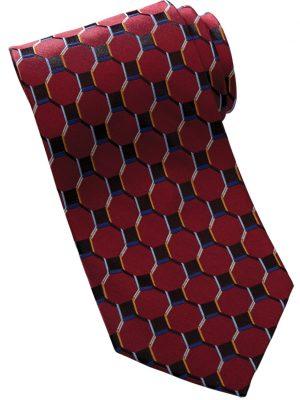 Honeycomb Silk Tie Wine