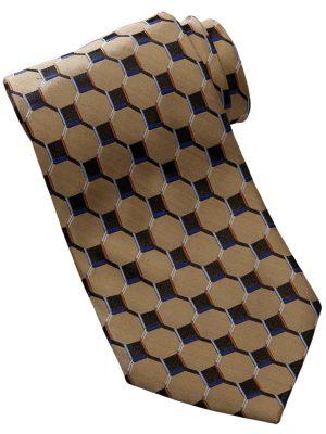 Honeycomb Silk Tie Gold