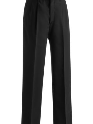 Men's Wool Blend Dress Pants Black