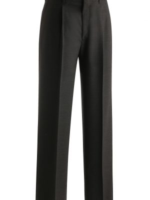 Men's Wool Blend Dress Pants Charcoal