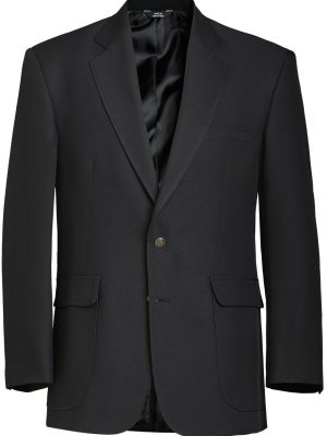 Men's Wool Blend Blazer Black