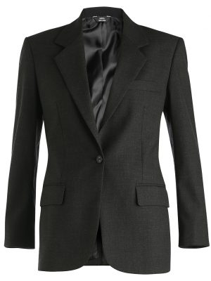 Women's Wool Blend Blazer Charcoal