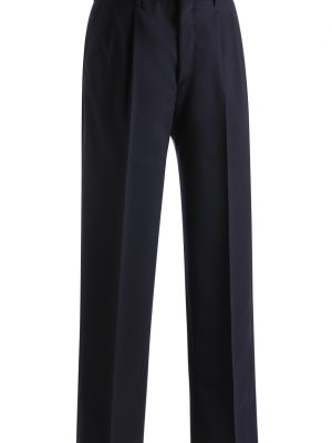Men's Wool Blend Dress Pants Navy