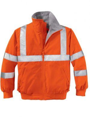 Safety Orange Reflective Jacket